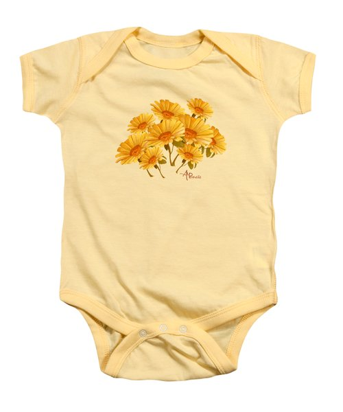 Bouquet Of Daisies Baby Onesie by Angeles M Pomata
