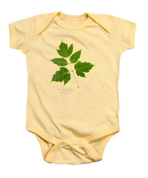 Baby Onesie featuring the mixed media Box Elder Maple by Christina Rollo