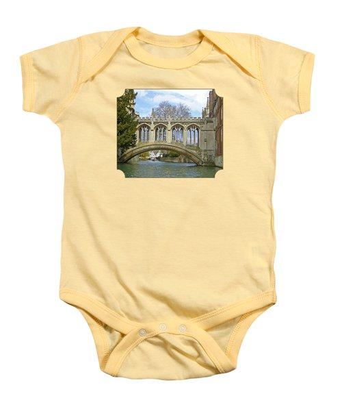 Bridge Of Sighs Cambridge Baby Onesie