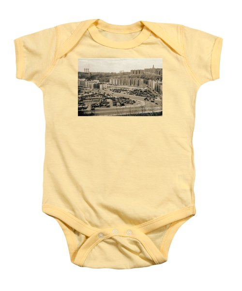 Broadway And Nagle Ave 1936 Baby Onesie by Cole Thompson