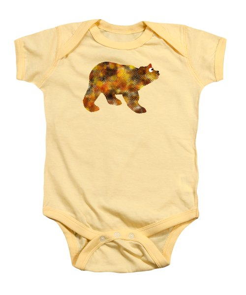 Brown Bear Silhouette Baby Onesie