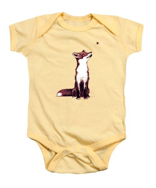 Brown Fox Looks At Thing Baby Onesie