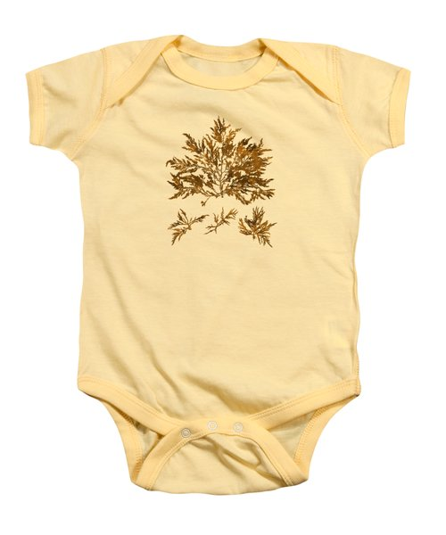 Baby Onesie featuring the mixed media Brown Seaweed Marine Art Chylocladia Clavellosa by Christina Rollo
