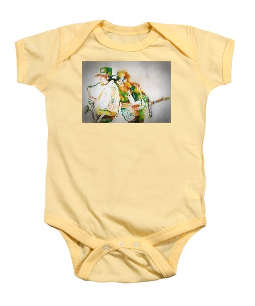 Bruce And The Big Man Baby Onesie by Dan Sproul