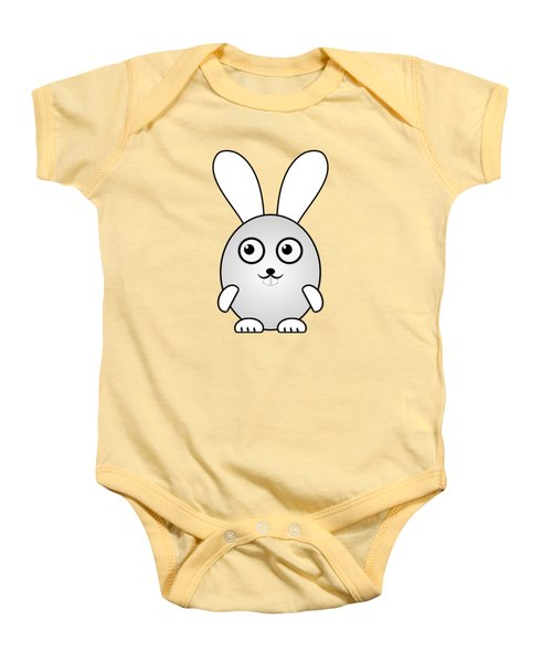Bunny - Animals - Art For Kids Baby Onesie by Anastasiya Malakhova