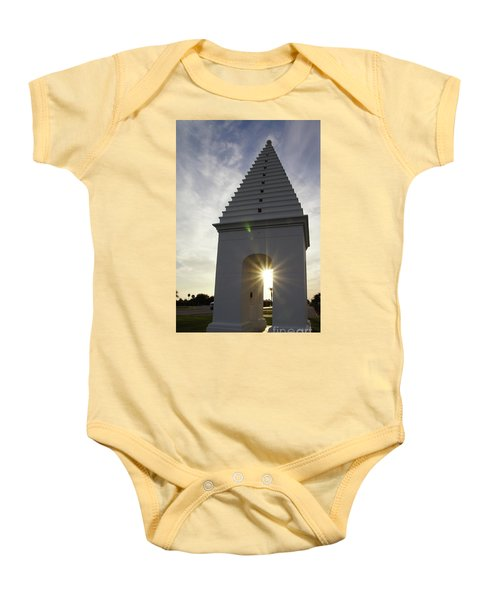 Butteries Sunset Baby Onesie by Megan Cohen