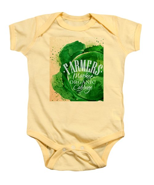 Cabbage Baby Onesie by Aloke Creative Store
