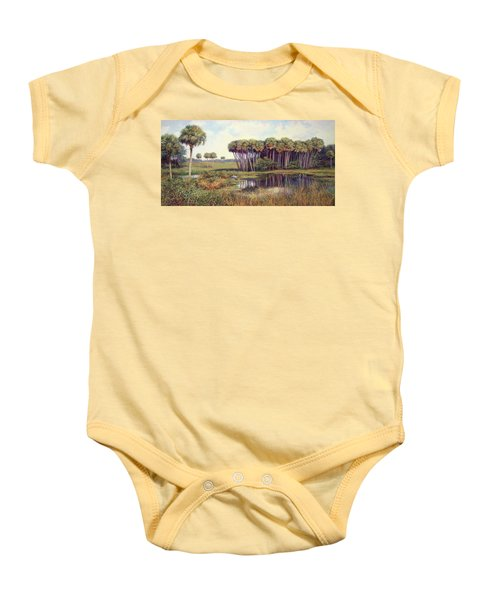 Cabbage Palm Hammock Baby Onesie by Laurie Hein