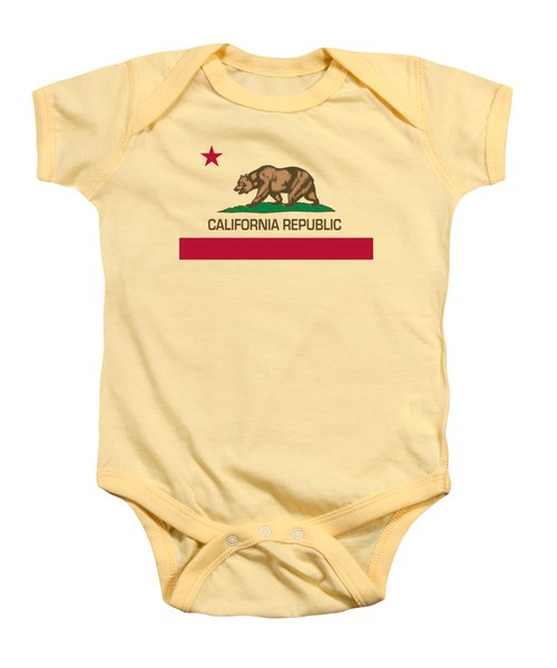 California Republic State Flag Authentic Version Baby Onesie by Bruce Stanfield