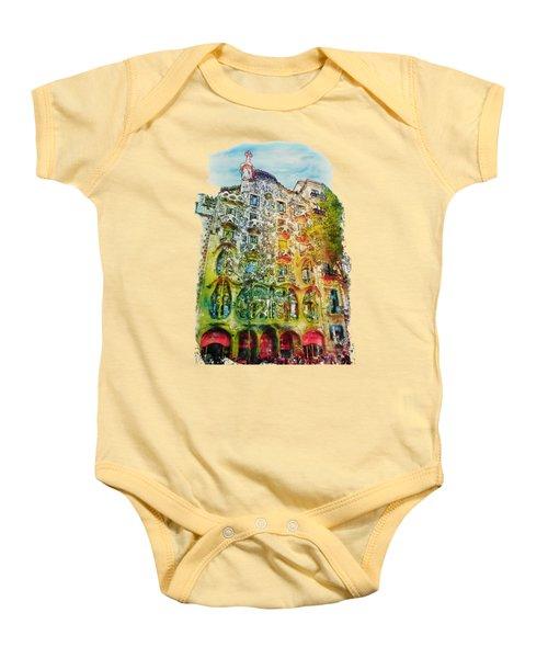 Casa Batllo Barcelona Baby Onesie by Marian Voicu