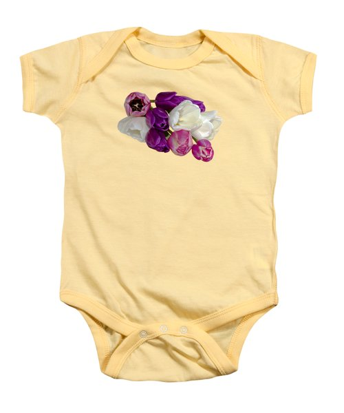 Cascading Tulips Baby Onesie by Phyllis Denton