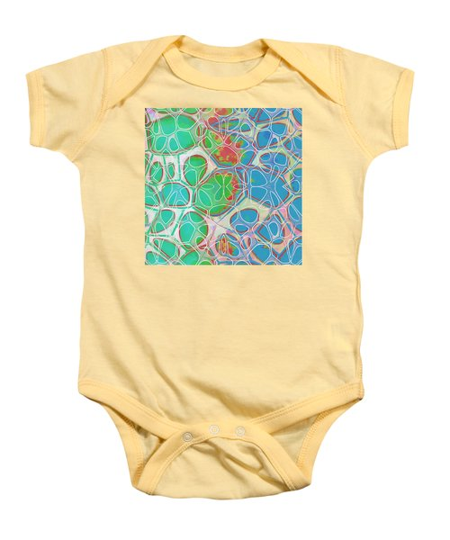 Cell Abstract 10 Baby Onesie by Edward Fielding