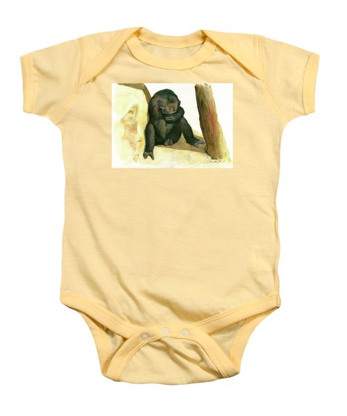Chimp Baby Onesie by Juan Bosco