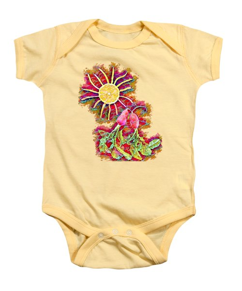 Color Splash - Radish Love  Baby Onesie