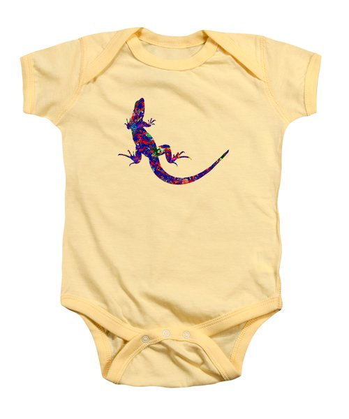 Colourful Lizard Baby Onesie