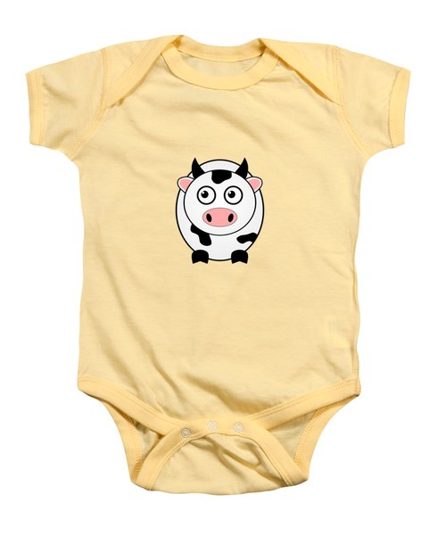 Cow - Animals - Art For Kids Baby Onesie by Anastasiya Malakhova