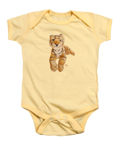 Cuddly Tiger Baby Onesie by Angeles M Pomata