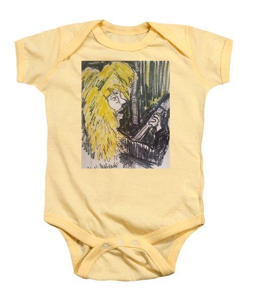 Def Leppard Love Bites Baby Onesie by Geraldine Myszenski