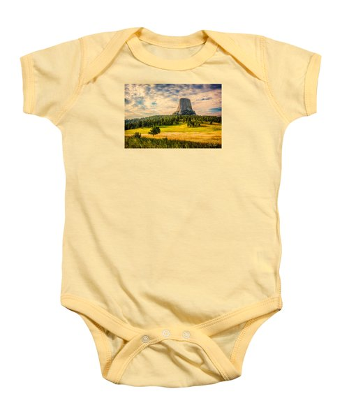 Devil's Tower - The Other Side Baby Onesie by Rikk Flohr