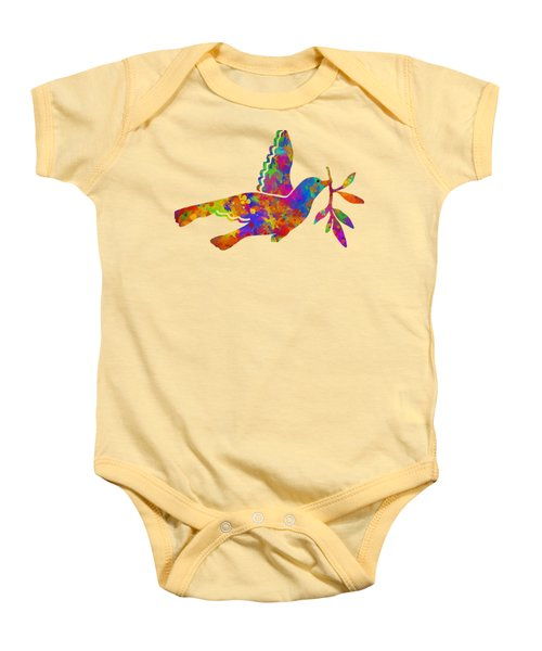 Dove With Olive Branch Baby Onesie by Christina Rollo