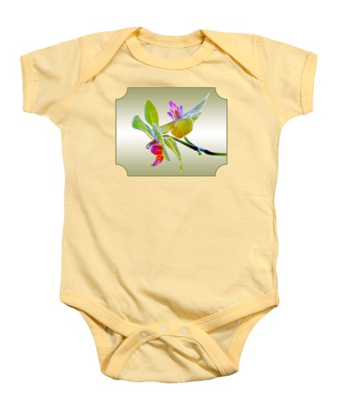 Dragon Glow Orchid Baby Onesie by Gill Billington