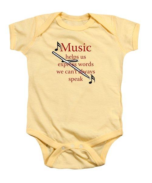 Drum Music Helps Us Express Words Baby Onesie