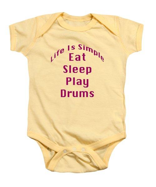 Drums Eat Sleep Play Drums 5514.02 Baby Onesie by M K  Miller