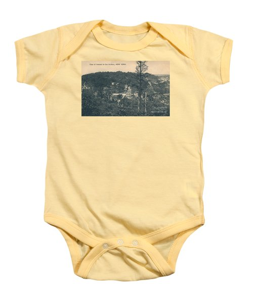 Dyckman Street At Turn Of The Century Baby Onesie by Cole Thompson
