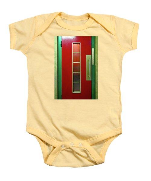 Elevator Door  Baby Onesie by Ethna Gillespie
