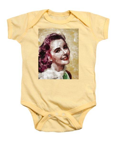 Elizabeth Taylor, Vintage Hollywood Legend By Mary Bassett Baby Onesie