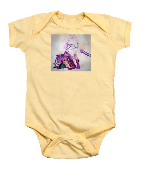 Elton John Baby Onesie by Dan Sproul