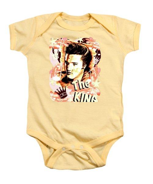 Elvis The King In Salmon Red Baby Onesie by Gitta Glaeser