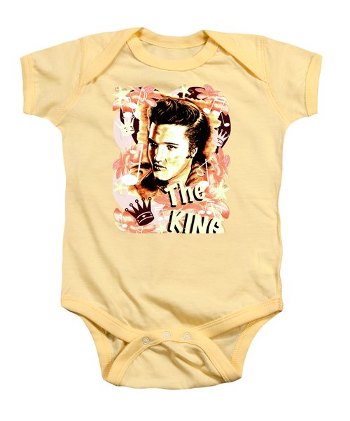 Elvis The King In Salmon Red Baby Onesie