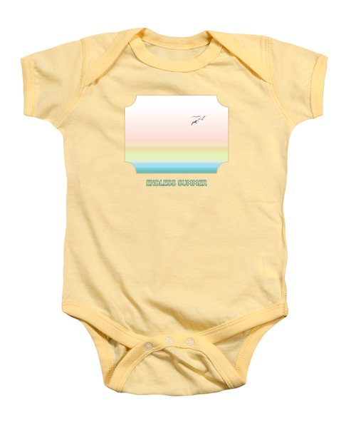 Endless Summer - Yellow Baby Onesie by Gill Billington