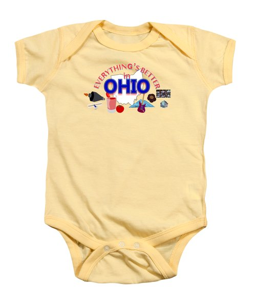 Everything's Better In Ohio Baby Onesie by Pharris Art