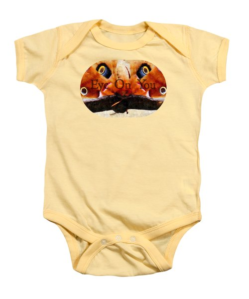 Eye On You - Silk Paint Baby Onesie by Anita Faye