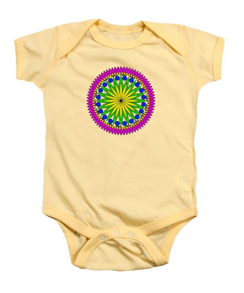 Flower Mandala By Kaye Menner Baby Onesie by Kaye Menner