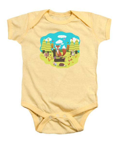 Forest Friends Fall Frolic Baby Onesie