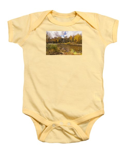 Baby Onesie featuring the photograph Franconia Iron Works by Anthony Baatz