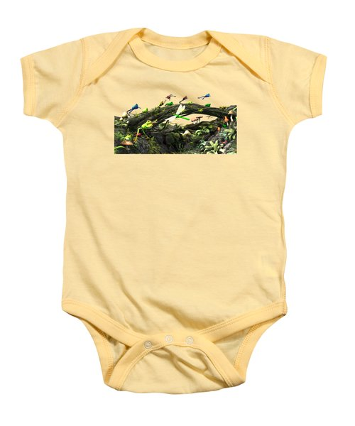 Frog Glen Baby Onesie by Methune Hively