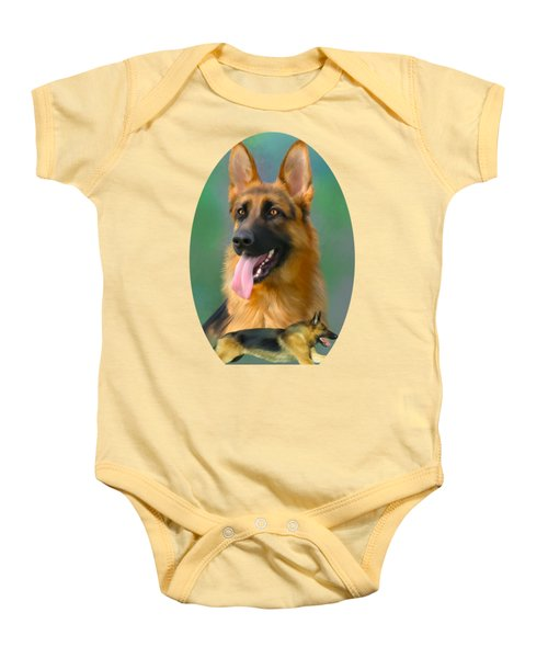 German Shepherd Breed Art Baby Onesie