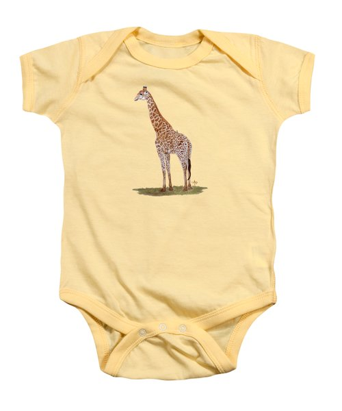 Giraffe Baby Onesie by Angeles M Pomata