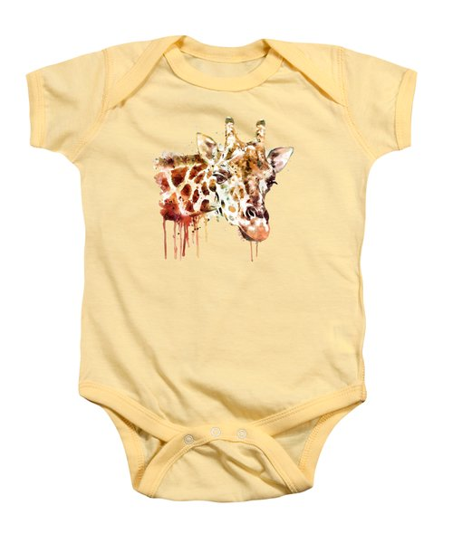 Giraffe Head Baby Onesie by Marian Voicu