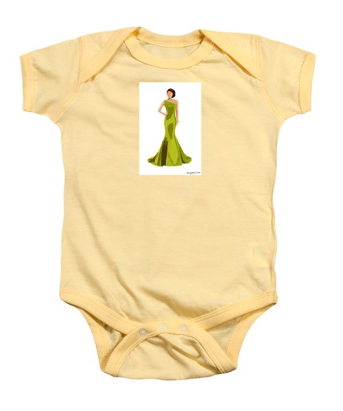 Baby Onesie featuring the digital art Grace by Nancy Levan