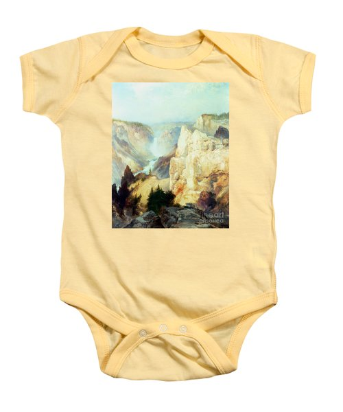 Grand Canyon Of The Yellowstone Park Baby Onesie by Thomas Moran