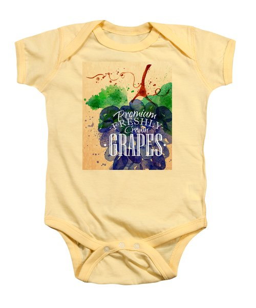 Grapes Baby Onesie by Aloke Creative Store