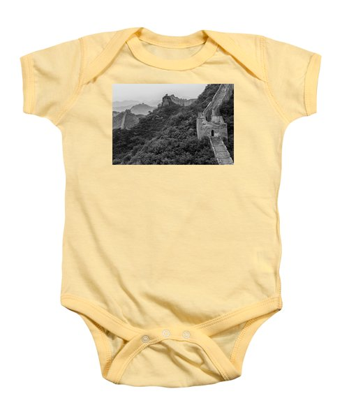 Baby Onesie featuring the photograph Great Wall 3, Jinshanling, 2016 by Hitendra SINKAR