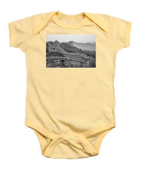 Baby Onesie featuring the photograph Great Wall 7, Jinshanling, 2016 by Hitendra SINKAR