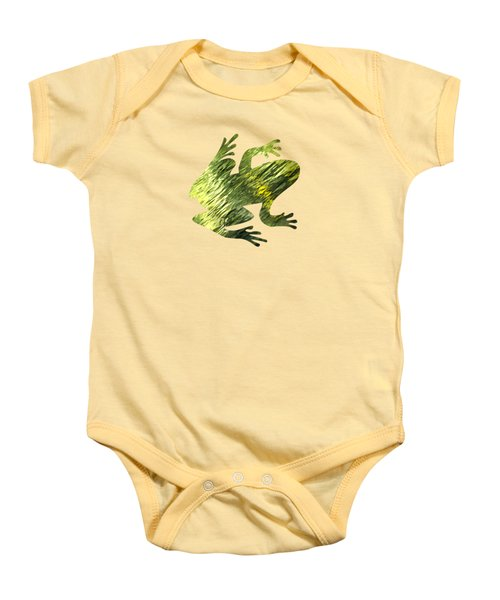 Green Abstract Water Reflection Baby Onesie by Christina Rollo