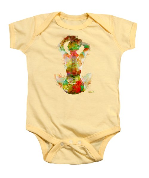 Guitar Siren Baby Onesie by Nikki Smith